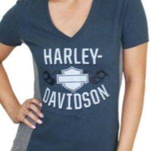 Harley Davidson deep blue reflective